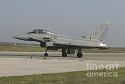 Spanish Air Force Prints - A Eurofighter Typhoon Of The Spanish Print by Timm Ziegenthaler