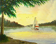 Reflecting Water Paintings - A Fair Wind by David Bentley