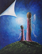 Alluring Paintings - A Fairys Child by Shawna Erback by Shawna Erback