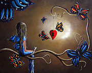 Faery Artists Painting Prints - A Fairys Heart Has Many Secrets Print by Shawna Erback