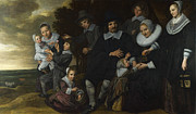Famous Artists - A Family Group in a Landscape by Frans Hals
