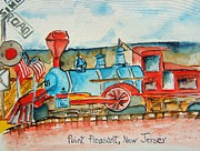 Amusement Park Ride Painting Originals - A FamilyTradition by Elaine Duras