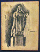Philippines Drawings - A Female Saint  63 by Glenn Bautista