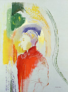Profile Painting Posters - A Figure Poster by Odilon Redon
