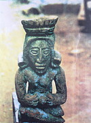 Mayan Paintings - A figure of a Mayan Priestess by Yucatan artist