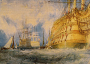 Turner Framed Prints - A First Rate Taking in Stores Framed Print by Joseph Mallord William Turner