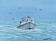 Topsail Island Photo Originals - A Fishermens Journey 2 by Michelle Young