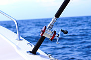 Saltwater Fishing Metal Prints - A fishing rod  Metal Print by Tommy Hammarsten