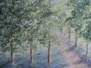 Woods Pastels Prints - A Flood of Azure Print by Constance Widen