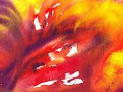 Irina Sztukowski - A Floral Flame Abstract