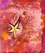 A Flying Star Flower Print by Anne-Elizabeth Whiteway