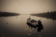 Avera Prints - A foggy day for fishing Print by Wenda Bailey