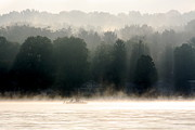 Jay Nodianos Metal Prints - A Foggy Morning Fishing Metal Print by Jay Nodianos