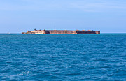 Dry Tortugas Framed Prints - A Fort Atop an Island Framed Print by John Bailey