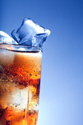 Fill Posters - A fresh glass of cola with ice Poster by Photocreo Michal Bednarek