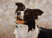 Dog Study Art - A frosty start by John Silver