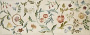Flower Tapestries - Textiles Prints - A Garden Piece Print by May Morris