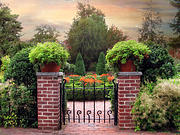 Planter Posters - A Gated Garden Poster by Jessica Jenney