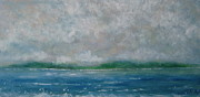 Waterscape Painting Prints - A Gentle Breeze Print by Megan Richard
