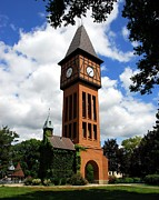Covington Prints - A German Bell Tower Print by Mel Steinhauer