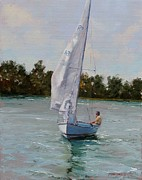 Sails Prints - A Gift of Memories on Rhodes19 Print by Laura Lee Zanghetti