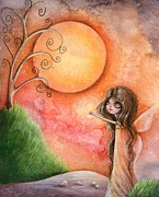 Whimsy Mixed Media - A Gift To The Moon by Sour Taffy