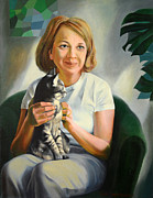 Jukka Nopsanen - A Girl with a Cat