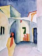 August Macke - A Glance Down an Alley