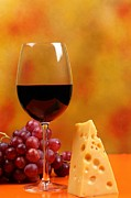 Images Of Wine Prints - A Glass Of Red Wine Print by John Vito Figorito