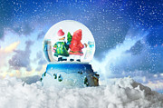 Christmas Holiday Scenery Art - A glass snowball by Michal Bednarek