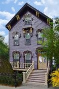 Old House Photographs Metal Prints - A glimpse into Old Town Chicago Metal Print by Christine Till
