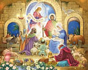 Gloria Digital Art - A Glorious Nativity by Randy Wollenmann