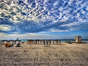 Israeli Digital Art Metal Prints - a good morning from Jerusalem beach  Metal Print by Ron Shoshani