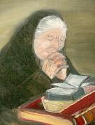 A Grandmother's Prayer Print by Helena Bebirian