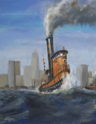 A Great Day For Tugs Print by Christopher Jenkins