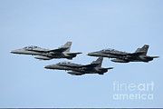 Featured Metal Prints - A Group Of Fa-18 Hornets Of The Royal Metal Print by Remo Guidi