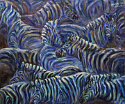 Continent Originals - A Group of Zebras by Xueling Zou