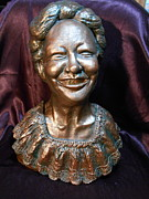 Women Sculpture Originals - A Happy Face by Phyllis Dunn
