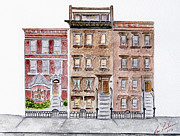 Harlem Paintings - A Harlem Streetscape  by Lynn Lieberman