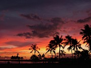 Golden Sky Prints - A Hawaiian Sunset 2 Print by Mel Steinhauer