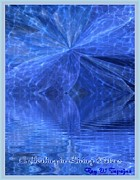 The View Mixed Media - A Healing in Blue Living Waters by Ray Tapajna