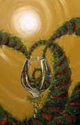 Wine Canvas Paintings - A Hearty Meritage by Valerie Greene