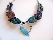 Wire-wrapped Jewelry Originals - A Hint Of Blue by Tareen Rayburn