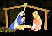 Baby In A Manger Prints - A Holy Night Print by Kenneth Cole