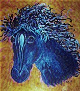 Pet Painting Metal Prints - A Horse Named Whimsy Metal Print by Eloise Schneider
