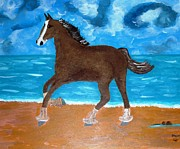 Magdalena Frohnsdorff - A Horse On The Beach