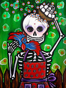 Sugar Skull Originals - A Huevo -Art by Karina Gomez by Laura and Karina Gomez