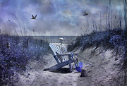Quiet Time Prints - A Hundred Years Remain Like Today Print by Betsy A Cutler East Coast Barrier Islands