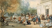 A Hunting Breakfast In England, 1870 Print by Eugene-Louis Lami