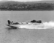 Jet-powered Metal Prints - A jet powered speed boat made by Boeing Metal Print by Underwood Archives